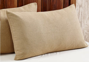 Burlap Natural Tan Pillow Sham - King 21x37