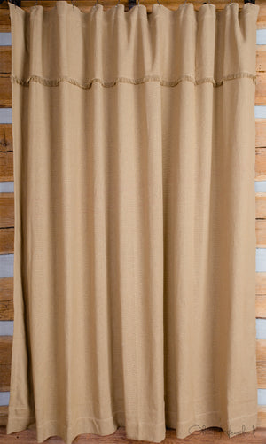Deluxe Burlap Natural Tan Shower Curtain | Country Farmhouse Style