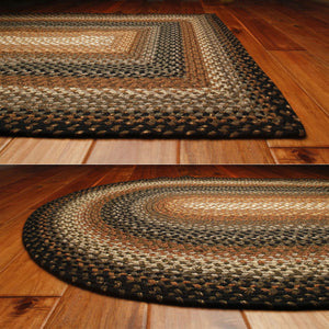 Cocoa Bean Cotton Braided Rug by Homespice - DL Country Barn