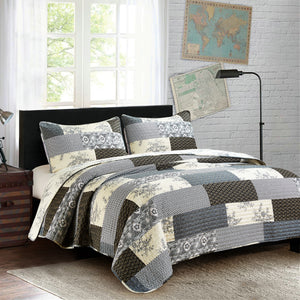 Concord Quilted Bedding Set - 3 pc. King