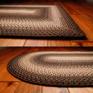 Driftwood Ultra Durable Braided Rug by Homespice - DL Country Barn