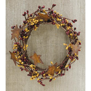 Burgundy & Gold Wreath 4""