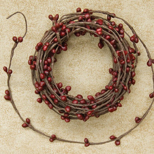 Pip Berry String Garland - Burgundy