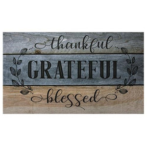 Thankful Grateful Blessed Floor Mat