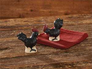 Hen Pecked Salt & Pepper Set by Park Designs | Hen Pecked Ceramics Collection