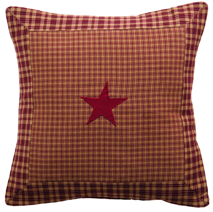Vintage Star Burgundy Pillow Cover