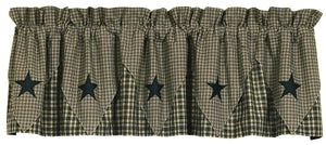 Vintage Star Black Pointed Valance 60x16
