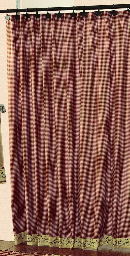 Checkerberry Shower Curtain
