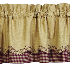 Checkerberry Scalloped Valance