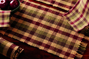 Apple Cider Plaid Table Runner