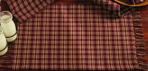 Burgundy & Tan Plaid Placemat (Set of 6)