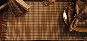 Mustard & Tan Plaid Placemat - Set of 6