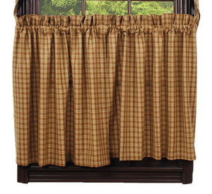 "Mustard & Tan Plaid Tiers 36""L"