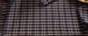 Navy & Tan Plaid Placemat (Set of 6)