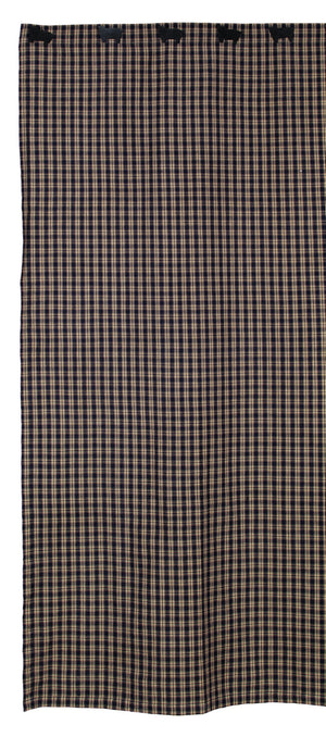 Navy & Tan Plaid Shower Curtain