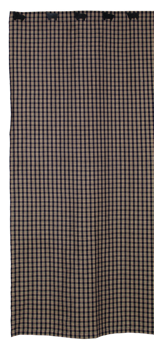 Cambridge Navy & Tan Plaid Shower Curtain
