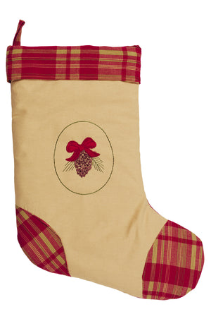 Holiday Pine Christmas Stocking