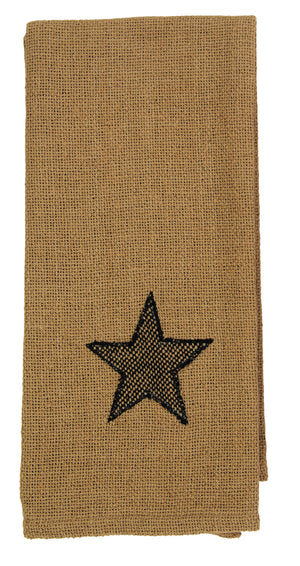 Burlap Star Tan Dishtowel