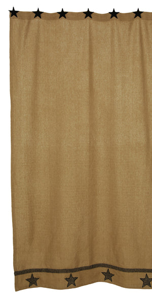 Burlap Star Tan Shower Curtain