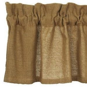 Burlap Natural Tan Valance 16x72 | Country Farmhouse Curtain
