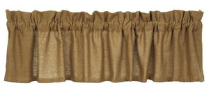 Burlap Natural Tan Valance 16x72