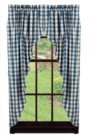 Picnic Blue Prairie Curtain
