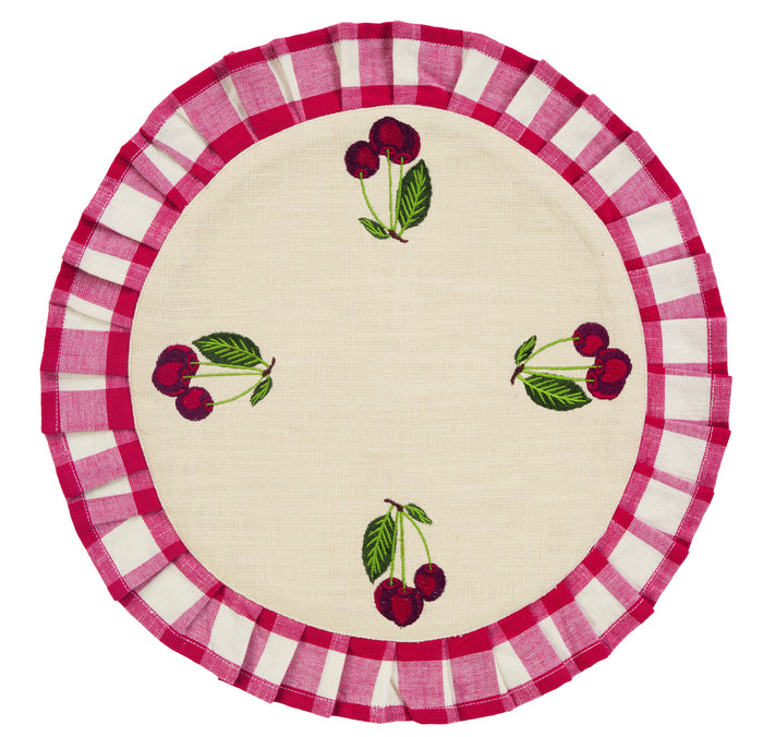 Picnic Red Tablemat (Set of 4)