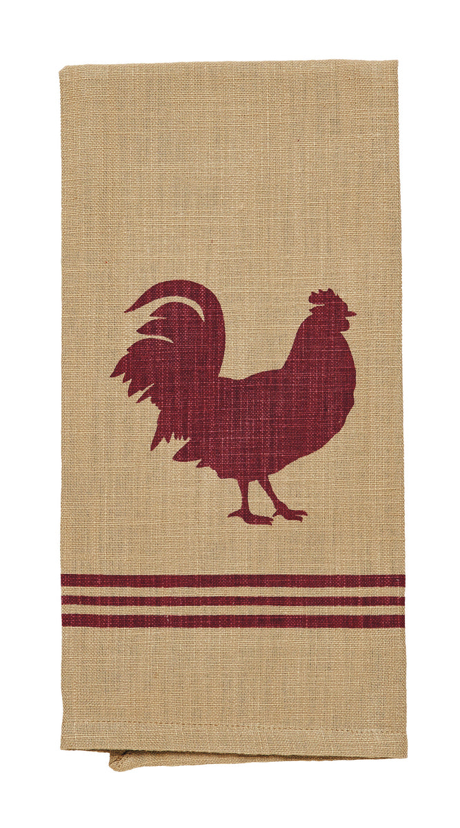 Red Rooster Dishtowel (Set of 2)