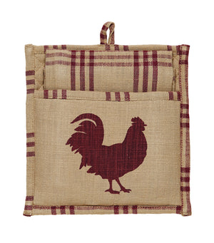 Red Rooster Potholder Gift Set