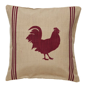 Red Rooster Pillow Cover