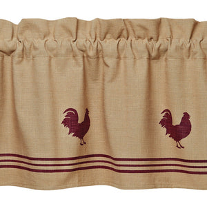 Red Rooster Valance