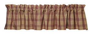 Cottonwood Red Valance