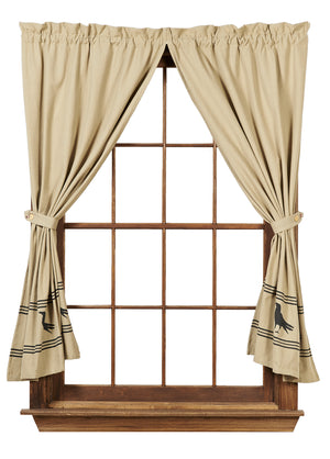 "Olde Crow Short Panel Curtain 63""L"