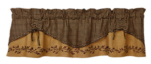 "Berry Scalloped Valance 60""x16"""