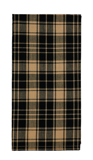 Heritage Check Black Dishtowel (Set of 2)