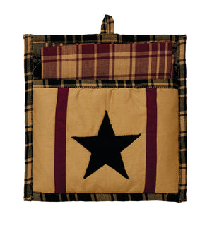 Heritage Star Burgundy Potholder Gift Set