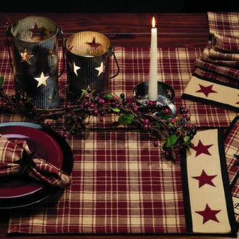 Heritage Star Burgundy Placemat (Set of 6)