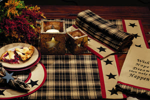 Heritage Star Black Placemat (Set of 6)