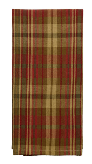 Cinnamon Plaid Dishtowel (Set of 2)