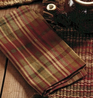 Cinnamon Plaid Napkin (Set of 6)