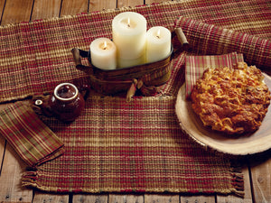 Cinnamon Plaid Table Runner