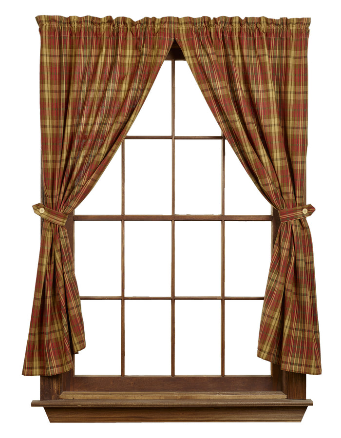"Cinnamon Short Panel Curtain 63""L"