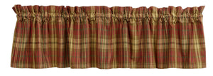 Cinnamon Plaid Valance