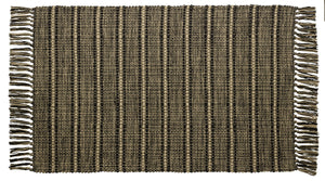 Black Terrace Rag Rug 24x42