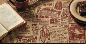 Classifieds Burgundy Placemat (Set of 6)