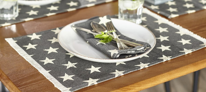 Stargazer Charcoal Placemat (Set of 6)