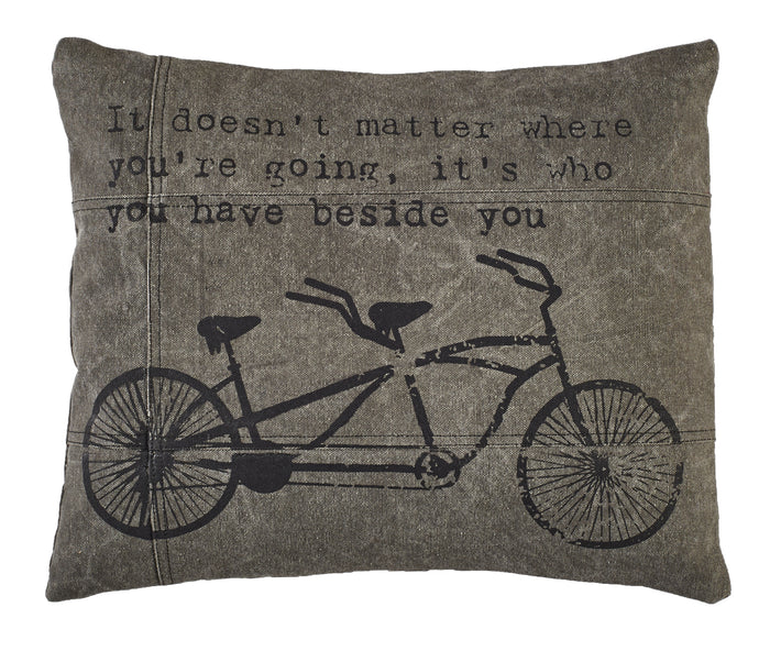 Where You're Going Bicycle Pillow