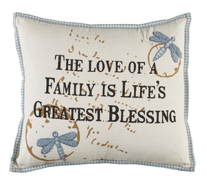 """Life's Greatest Blessing"" Pillow 