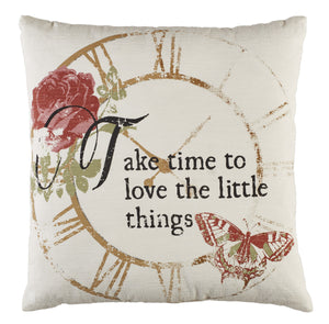 Love The Little Things Pillow | Decorative Pillow
