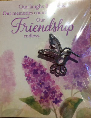 """Friendship"" Brooch Greeting Card"